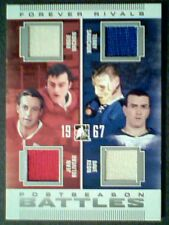 VACHON /JEAN BELIVEAU /SAWCHUK /KEON  AUTHENTIC PIECES OF GAME-USED JERSEY /85