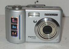 Samsung Digimax S500 5.1MP Digital Camera - Silver 3x Optical Zoom
