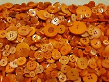 100 Orange Sewing Buttons Free Shipping
