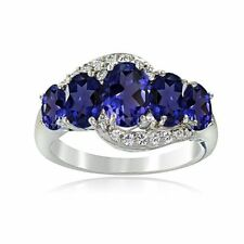 Heat & Pressure Oval Sapphire Fine Rings
