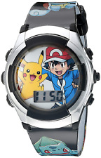 Pokémon Kids' Watch with Flashing LED Lights - Digital Official Characters on th