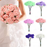 Hot Artificial Foam Flowers Bouquet Handmade Fake Roses Bride Wedding Home Decor