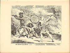 1873 james gillray ( the caricaturist ) print. sin - death and the devil !