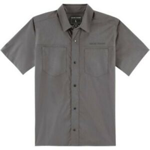 Icon Men's 1000 Counter Shop Shirt - Gray Snap Front - S, M, L, XL, 2XL, or 3XL