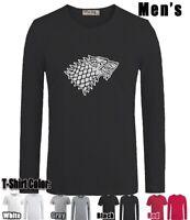House Stark Design Long Short Sleeves Men's Boy's T-Shirt Graphic Tee Shirt Tops