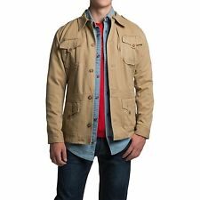 Remington 1816 Safari Field Cotton Twill Jacket Khaki Tan SZ Large