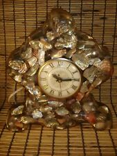 "Vintage Lanshire Lucite Resin ""Vomit"" Clock - Working"