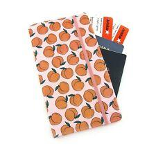 Glitter Peach Travel Wallet, Passport Wallet, Travel Organiser, Family Wallet