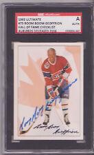BERNIE GEOFFRION SIGNED MONTREAL CANADIENS 1992 ULTIMATE HOCKEY CARD SGC SLAB