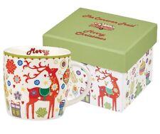 The CARAVAN TRAIL Mug FESTIVAL Festive CHEER Boxed CHRISTMAS STAG Fine China
