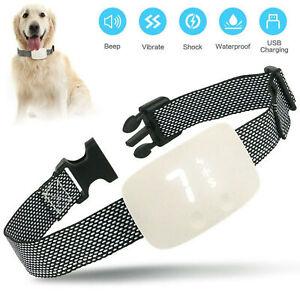 Dog Anti Bark Collar No Barking Training Control Shock Vibration Rechargeable