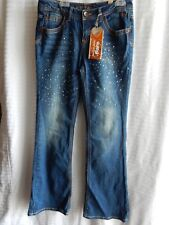 JUSTICE Girls Flare Jeans NEW Size 16 R  Bling Embellished New With Tags