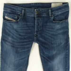 Mens Diesel TROXER R767M Stretch Slim Skinny Blue Jeans W34 L32