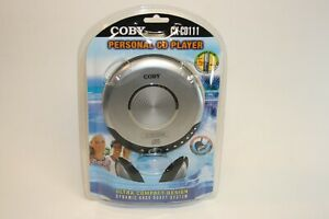 New Coby CX-CD111 Silver Walkman Style CD Player Dynamic Bass Boost + Headphones