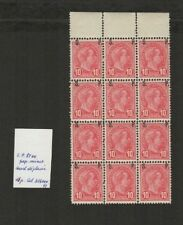 FIX 008 Luxembourg - G.D. Adolphe DISPLACED S.P. overprint on 12c. MNH 12 stamps