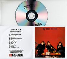 BABY IN VAIN More Nothing 2017 UK 11-trk promo test CD