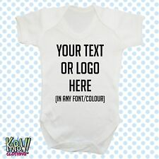 Personalizado Personalizado Bebé Crecer Cuerpo Suit Dormir Chaleco Mameluco Regalo-elige texto/logo 2