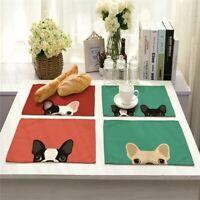 Hund Burlap Leinen Ort Mat Mat der Tabelle Zubehör zum Essen Geschirr Pad