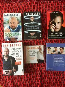 5 Bücher- 3x Jan Becker+ 1 CD, Henrik Fexeus, Bernhard P. Wirth