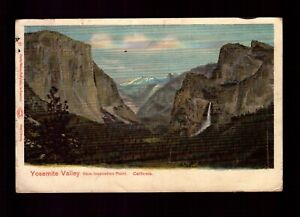 POSTCARD : CALIFORNIA - YOSEMITE VALLEY CA - FROM INSPIRATION POINT