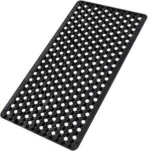 Bath Tub Shower Mat Non Slip with Strong Suction Cups PVC Material Durable Black