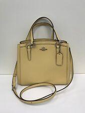 NWT Coach  Crossgrain Leather Minetta Crossbody Handbag F57847 - Vanilla