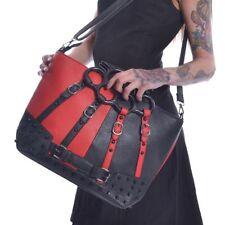 Poizen Industries Harley Quinn Juno Studded Top Handle Punk Bag Gothic Handbag