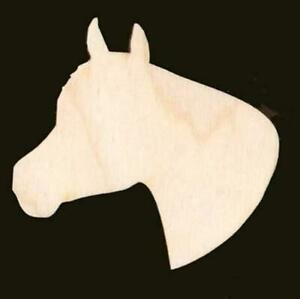 "Horse Head Shape 4"" Natural Craft Wood Cutout #382-4"
