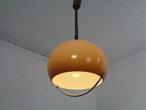 Italian Pendant Lamp in Brown Plastic from Harvey Guzzini 1960s
