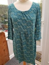 WHITE STUFF Teal Green Blue Tunic Top Size 12 Hardly Worn