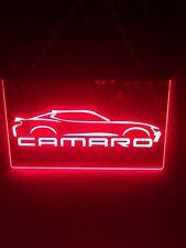 Chevrolet Camaro Led Light Sign Display Bar ,garage Sign Man Cave