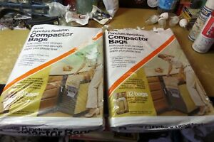 2 x New Sears Puncture Resistant Compactor Bags. 12 Bags x 2 .10.6 Gal