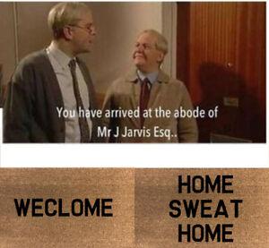 WECLOME & HOME SWEAT HOME Coir Door / Floor Mat 40cmx70cm STILL GAME Indoor use