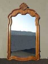 """Vintage DREXEL Mid-Century Carved Solid Wood 53"""" TALL WALL MIRROR Mantle"""