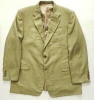 Hickey freeman Mens Silk Wool Blend Sport Coat Blazer Jacket Sz 46R 2 Button EUC