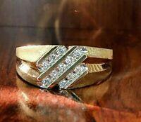 Men's Engagement Ring 14k Yellow Gold Finish 2.00Ct Round Cut Diamond