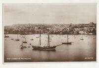 The Harbour Falmouth Cornwall Vintage RP Postcard 707b