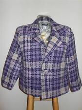 Anthropologie Purple Lavender Plaid Wool Blazer Jacket & Skirt Suit NWT 10