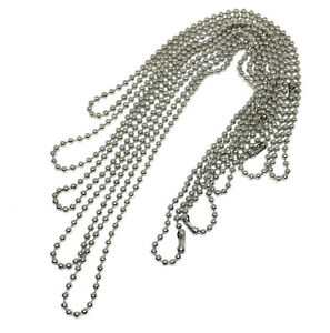 set of 5 hypoallergenic stainless steel layering ball chains 14 to 22 inch