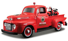 FORD F-1 PICK UP TRUCK with HARLEY HAVIDSON BIKE 1:24 Car model die cast toy