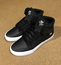 Supra Kids Vaider Size 5 US Youth Black Herringbone BMX DC Skate Shoes Sneakers