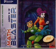 MATH BLASTER Ages 9-12 for PC SEALED NEW