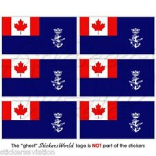 CANADA Canadian Navy Auxiliary Jack Flag Mobile Cell Phone Mini Sticker-Decal x6