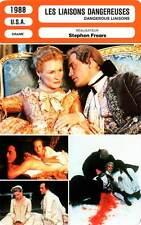 FICHE CINEMA : LES LIAISONS DANGEREUSES - Close,Pfeiffer 1988 Dangerous Liaisons