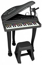 Bontempi 10 4000 Electronic pianoforte a coda con microfono/gambe e sgabello UK POST