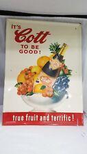 Vintage Advertising Cott Soda Sign Pop Sign 267-Z