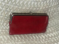 Hobo International Lauren Leather Clutch ~ CARDINAL