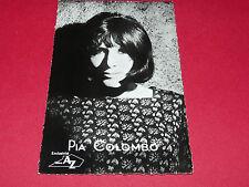 CPA PIA COLOMBO DISQUE AZ CHANTEUR TAILLE 9 CM X 14 CM 60's YEYE