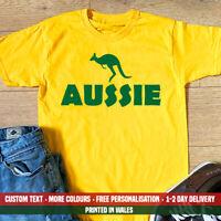 Aussie Kangaroo T Shirt Funny Australian Aussie Dad Cousin Holiday Gift Top