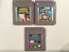 Kirby's Dreamland 1+2+Pinball Original Nintendo Gameboy Clean Tested Authentic